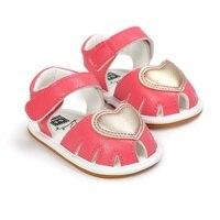 CHICHIMAO Newborn Baby Heart Pattern Princess Shoes Soft Rubber Bottom Non Slip First Walkers 0 18