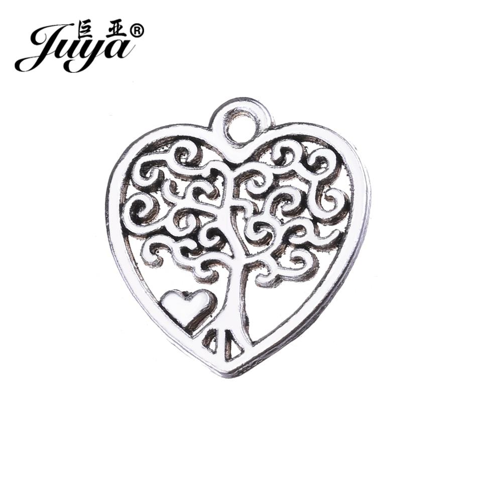 5 x Large Stunning Tree with Filigree Heart Design Round Pendants 5.5cm FREE P/&P
