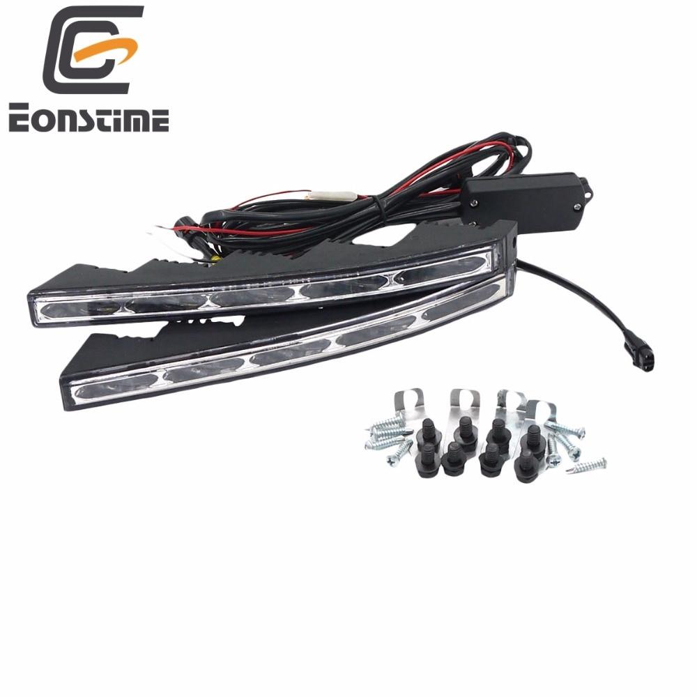 eonstime 12 v 24 v auto car 5 led luz corriente diurna drl de la l mpara para toyota land cruiser 10 w controlador de host toyota cruiser  [ 1000 x 1000 Pixel ]