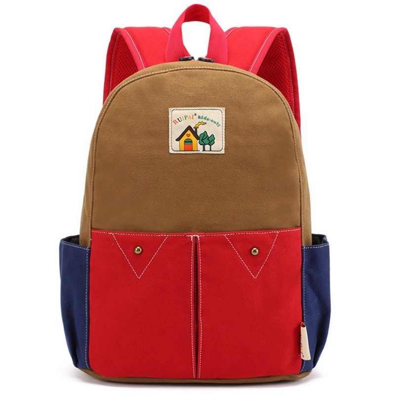 Японский стиль, Детские повседневные школьные сумки для мальчиков и девочек-подростков, контрастный цвет, Mochila Escolar, Kawaii, школьный рюкзак, красная сумка для детского сада
