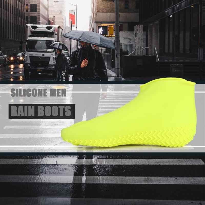 Силиконовая обувь многоразовая Водонепроницаемая непромокаемая Мужская обувь покрывает непромокаемые сапоги Нескользящая моющаяся одежда унисекс устойчивая к вторичной переработке