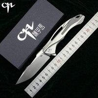 CH3519 Флиппер складной нож s35vn стали TC4 Титан + углерода fibe ручка Открытый Отдых охотничий Карманный фрукты Ножи EDC инструменты