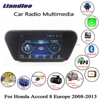 Liandlee For Honda For Accord 8 Europe 2008~2013 Car Android Radio Player GPS Navi Navigation Maps Camera OBD HD screen no DVD