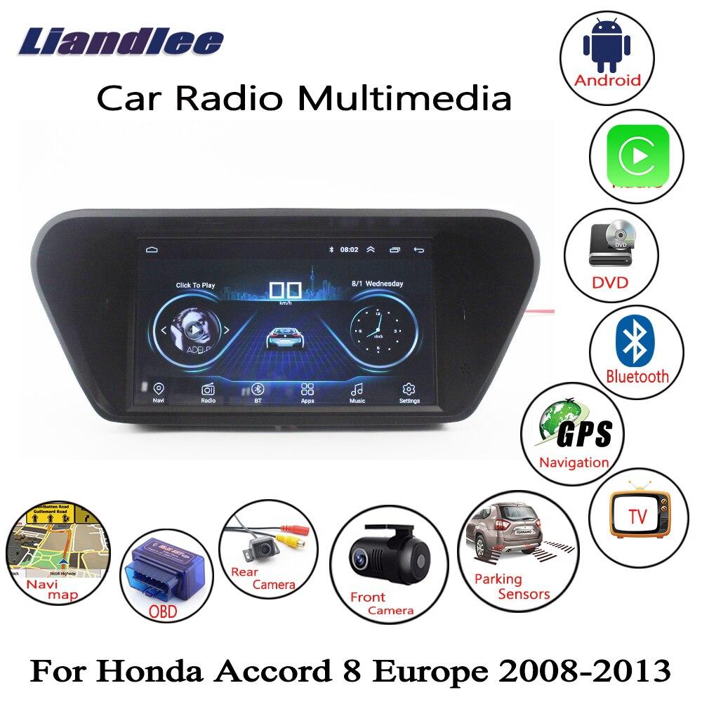 Liandlee Per Honda Accord 8 Europa 2008 ~ 2013 Auto Android Radio Player GPS Navi Mappe di Navigazione Macchina Fotografica OBD HD dello schermo no DVD