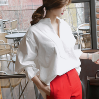 2016 New Spring Women Shirts Butterfly Full Sleeve Loose Western Style Open Blouse Shirt White 3680