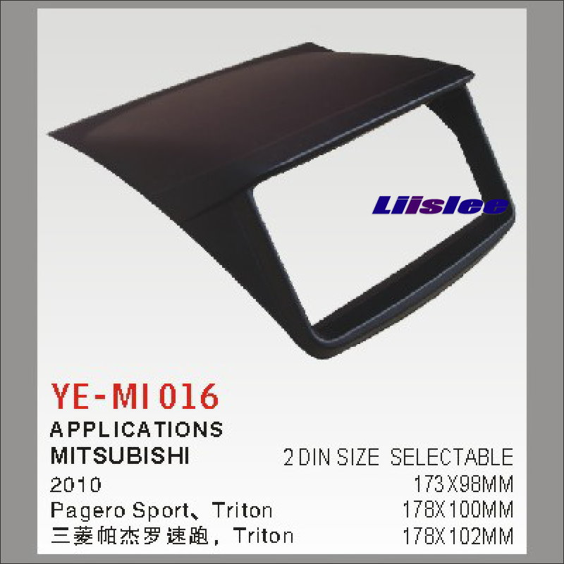 Liislee For Mitsubishi Pagero Sport 2010 Aftermarket Radio Dash Board Kit 2 DIN ABS Plastic Fascias Car Audio Panel Frame Fascia