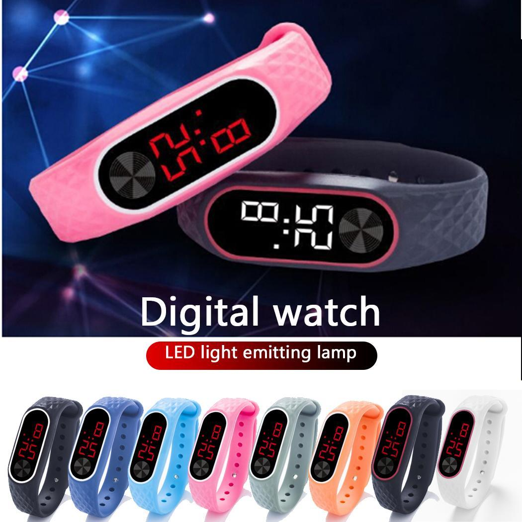 2019 New Digital LCD TPU Wirstband Pedometer Wrist Sport Fitness Watch Bracelet