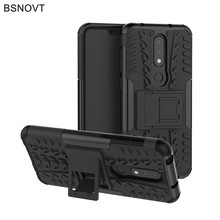 For Nokia 6.1 Plus Case Silicone Hard Phone Holder Anti-knock X6 2018 Cover Funda BSNOVT
