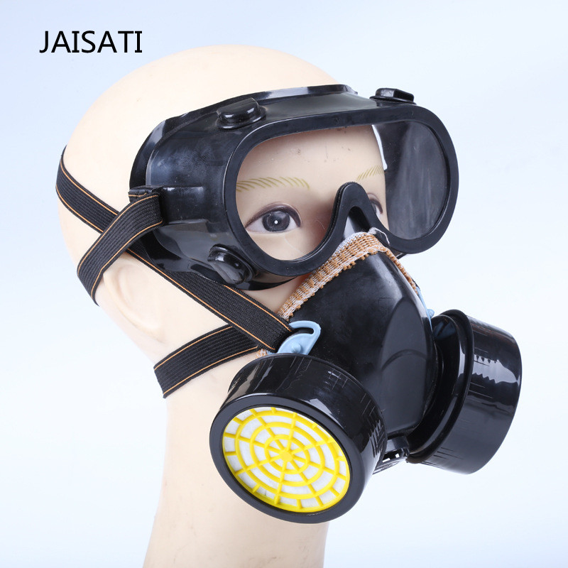 JAISATI Windproof air  double cans gas mask large field of view welding mask airsoft adults cs field game skeleton warrior skull paintball mask