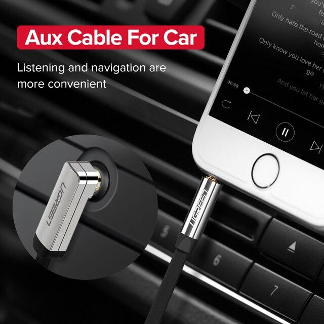 Ugreen aux cabo jack 3.5mm cabo de áudio 3.5mm jack cabo alto-falante para jbl fones de ouvido carro xiaomi redmi 5 plus oneplus 5t aux cabo