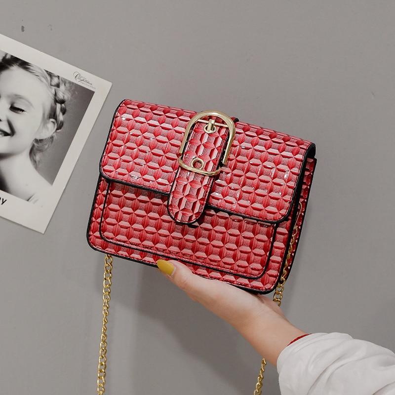 Luxury Handbags Women Bags Designer Vintage PU Leather Shoulder Bag Fashion Travel Chain Messenger Crossbody Bags For Women 2019