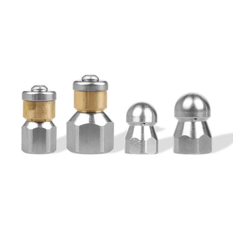 Lavadora de alta Pressão de Aço Inoxidável G1/4 G3/8 e Acessórios BSP 1/4 G3/8 3 Entrada bocal Da Mangueira de Metal Bico Rotativo Bico de Esgoto