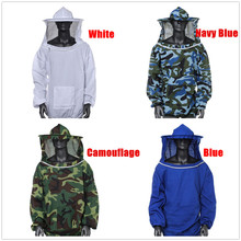 Camouflage Beekeeping Jacket Protective Veil Smock Bee Coat Suit Clothes TB Sale Bee Keeping Hat Sleeve Suit High-quality Cotton protective pants veil bee protecting dress camouflage beekeeping suit beekeeper bee suit smock
