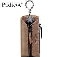 Padieoe Hot Sale Travel Housekeeper Genuine Leather Business Key Bags Fashion Key Chain Covers Men Key Holder Women Key Cases