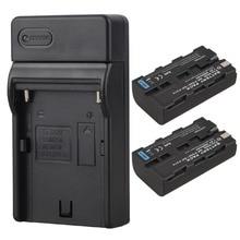 Alta Qualidade 2×2600 mAh NP-F570 NP-F550 NP F550 NP F570 Câmera Digital Bateria + Carregador USB para Sony NP-F550 NP-F570 bateria