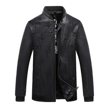2017 PLUS measurement 9xl 8xl 6xl Men Leather Jacket Genuine Real Sheep Goat pores and skin Brand Black Male Bomber Motorcycle Biker Man's Coat