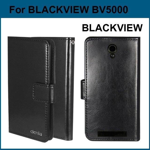 ¡ Caliente! blackview bv5000 case, 5 colores de alta calidad de la pu de cuero personalizar exclusivo dedicado case para blackview bv5000 de seguimiento