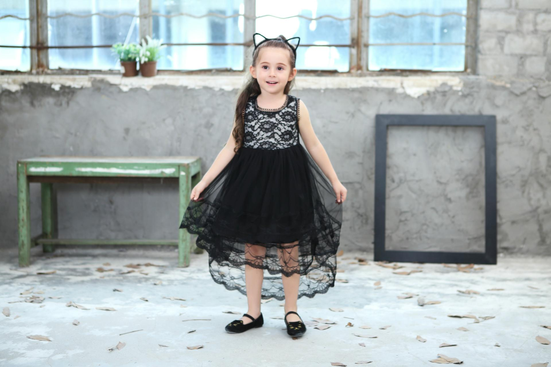 2018 New Summer Girls Ball Gown Dresses Mesh Girls Clothes Princess Wedding Party Dress Pageant Children Clothes 6