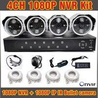 Dvr 4 Channel Ip Camera 1080p Nvr Kit 4ch Ip Camera Waterproof Ip Camera Outdoor Video