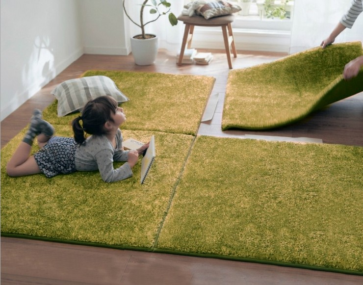 Hot Sale Stitching Bedroom Carpet Living Room Children Drop Resistance Plush Rug Tatami Mat Floor Mats