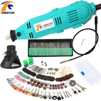 Tungfull Electric Drill Rotary Grinder Tool Flexible Flex Shaft Dremel Style Mini Drills Variable Speed With