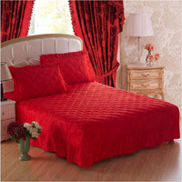 New style bedding 100% Cotton Bed Skirt Thicken Bed Cover Sheets Bedspread bed skirt size 120*200/150*200/180*200/200*220cm