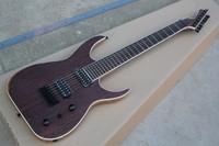 Northeast China ash Body Rosewood Fretboard Satin Matte Black Blackmachine B7 Special Shape 7 Strings Electric Guitar 1027