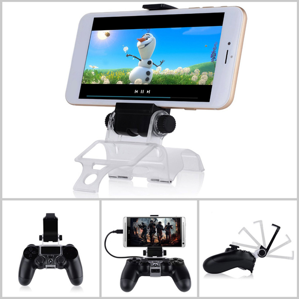 NEW For PS4 Gaming Clip Black Smart Phone Clip Clamp Mount Adjustable Bracket Handset Support Stand For PS4 Playstation
