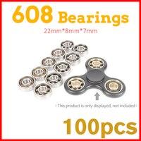 100Pcs 608 Bearing For Metal Led Light Glow In The Dark Batman Game Aluminium Figit Tri