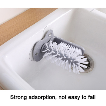 HOT Glass Washer Sink Suction Cup Base Cleaning Bottle Glass Brush Bathroom Tool NDS66