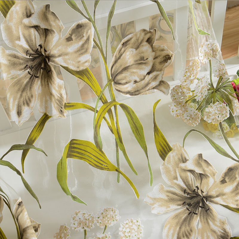 Tropical Flowers Curtains 4