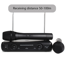 V2 Handheld Wireless Karaoke Microphone Karaoke player Home Karaoke Echo Mixer System Digital Sound Audio Mixer Singing Machine цена 2017