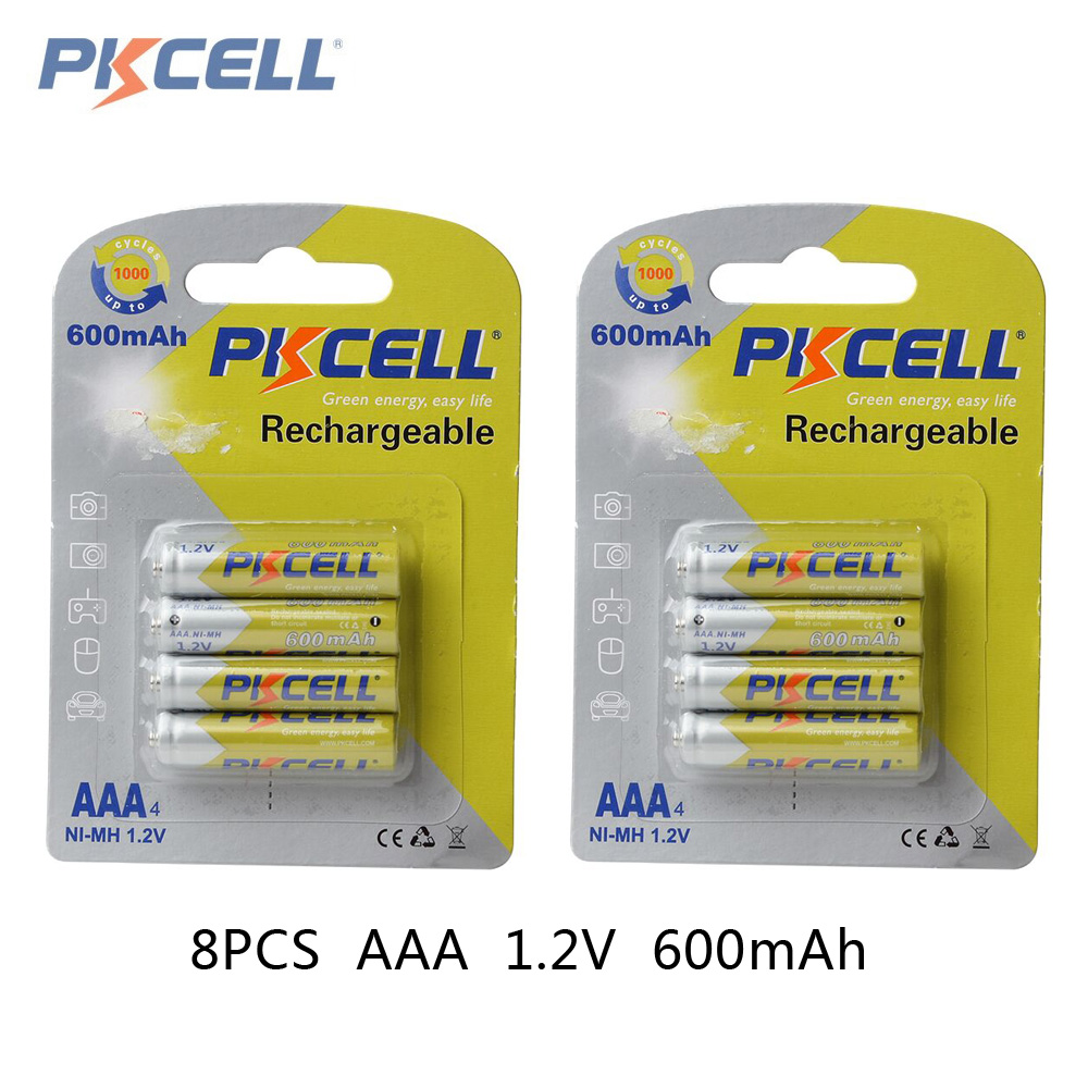 8pcs 2card pkcell 1 2v aaa ni mh 600mah rechargeable batteries high capacity batteries set with. Black Bedroom Furniture Sets. Home Design Ideas