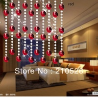 size 90*100cm height customized colorfull Entrance Crystal bead Curtain Room Divider Finished curtain