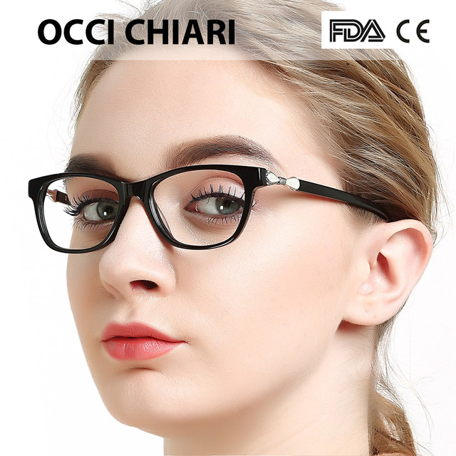 e825dd4996ac OCCI CHIARI Women Glasses Frame Prescription Glasses Clear Lens Oculos  Medical Optical Eyewear Metal Decorate Red