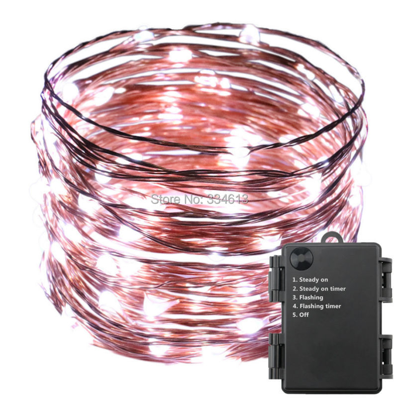 6AA Battery Powered 6M 10M 12M 20M 5Mode LED String Lights, Waterproof Copper Wire Christmas Fairy Lights Indoor Outdoor Lights