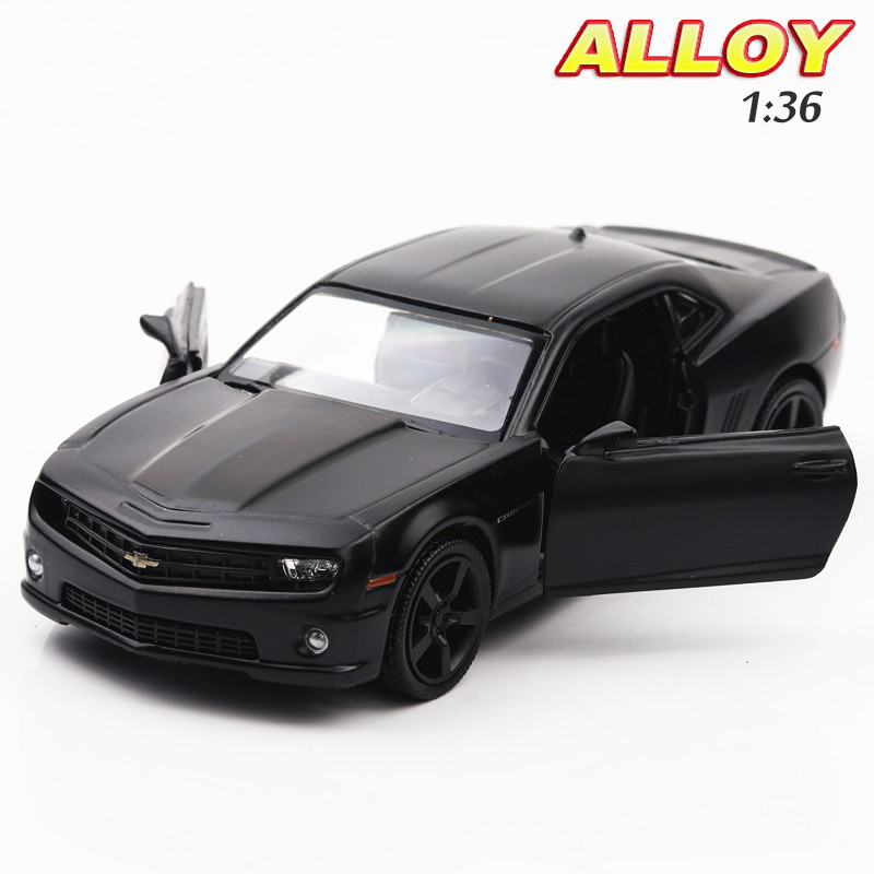 Hot Sale 1:36 Scale Chevrolet Camero Bumblebee Car Model Alloy car& Pull Back Toy Collection Model Diecast Car Kids Toys Gift