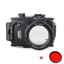 Meikon 40m 130ft Waterproof Underwater Diving Camera Housing Case For Sony A5000 16-50mm Photography+Red Filter 67mm цена 2017