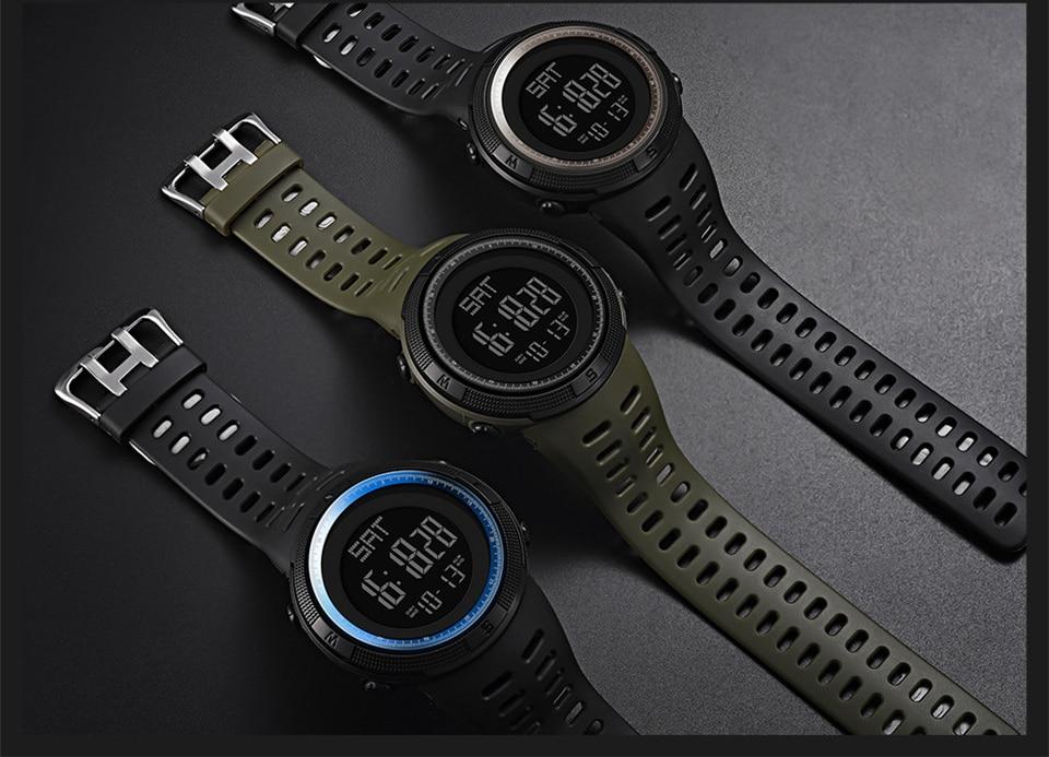 Sports Electronic Watches Men Countdown Double Time Watch Alarm Chrono Digital Wristwatches 50M Waterproof Outdoor Running Watch (9)