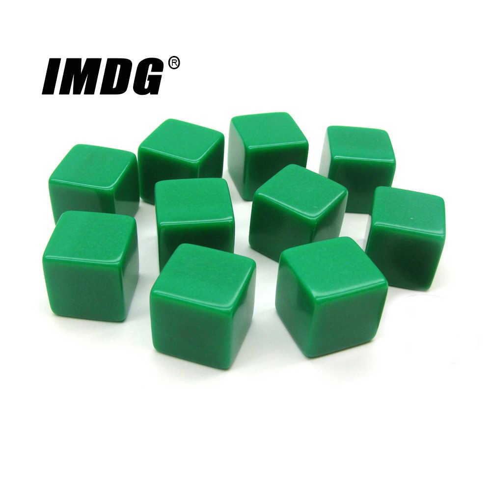10 шт./упак. новые акриловые 16 мм зеленые кости белые Обучающие реквизит игровые аксессуары математические инструменты квадратный угол