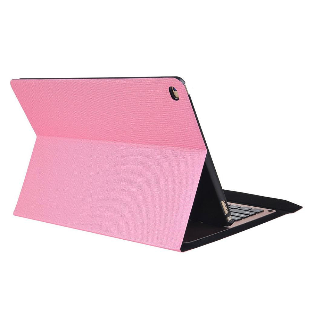 For iPad Air2 9.7inch Ultra Aluminum Bluetooth Keyboard Leather Case Cover 6A25 Drop Shipping