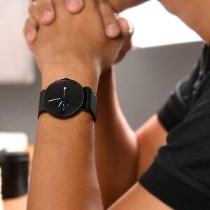 Image 5 - Relogio masculino BOBO BIRD luksusowy męski zegarek minimalistyczny czarny wzór siatka ze stali nierdzewnej pasek wyświetlanie daty prezenty własne logo