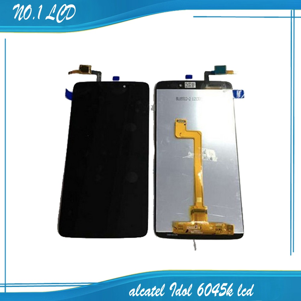 5.5 orignal touch screen digitizer lens panel sensor Lcd display for Alcatel One Touch Idol 3 OT6045 6045Y 6045F 6045K 6045