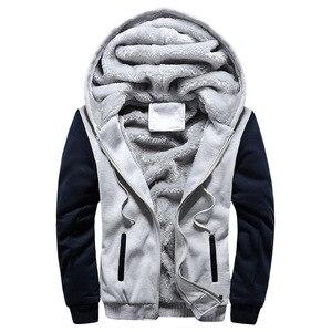Image 2 - 2020 New Men Jacket Winter Thick Warm Fleece Zipper Men Jacket Coat Sportwear Male Streetwear Winter Jacket Men 4XL5XL
