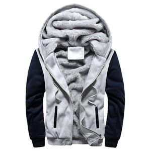 Image 2 - 2020 novos homens jaqueta de inverno grosso quente velo zíper jaqueta masculina casaco sportwear masculino streetwear jaqueta de inverno 4xl5xl
