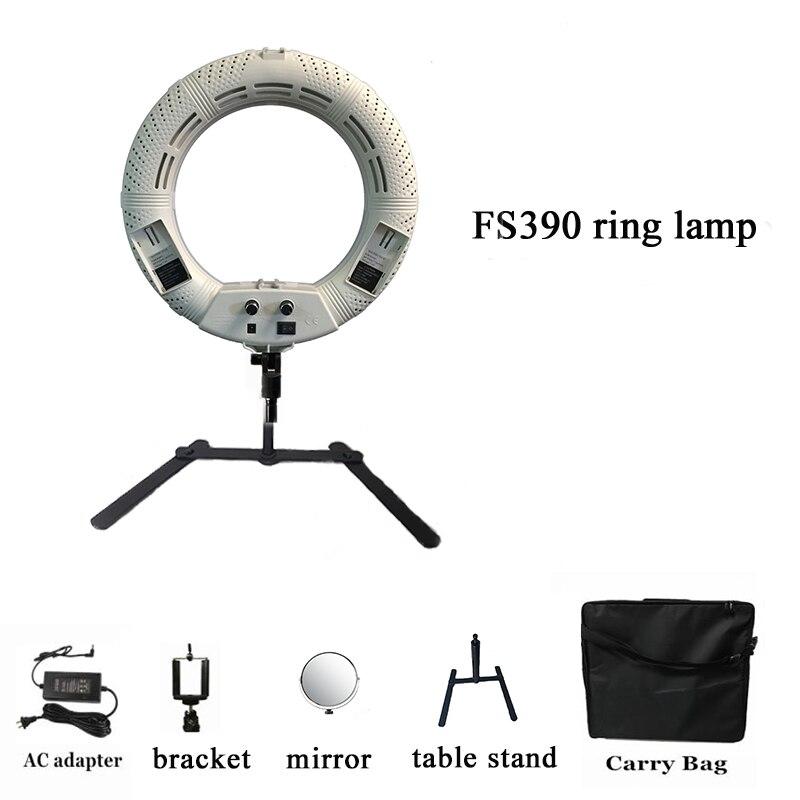 Yidoblo FS-390II mini anneau lampe LED Bio-couleur lumière maquillage beauté ongles dent cheveux peau anneau lumière 192 LED lumières + Table stand