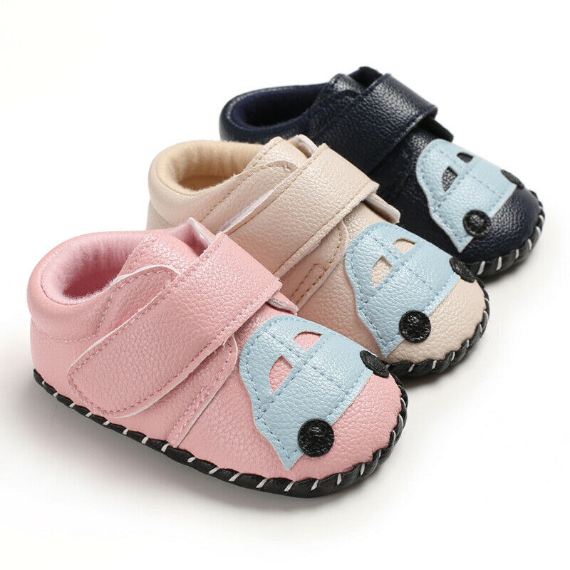 Baby Girl Crib Shoes Toddler Boy PU Leather Anti Slip Sneaker Newborn Infant Soft Sole Spring Autumn First walkers 0-18M(China)