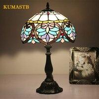 Роскошные старинная Настольная лампа для бар отеля прикроватная лампа ресторанная настольная лампа Lamparas Гостиная Tiffanylamp Dia30cm H49cm