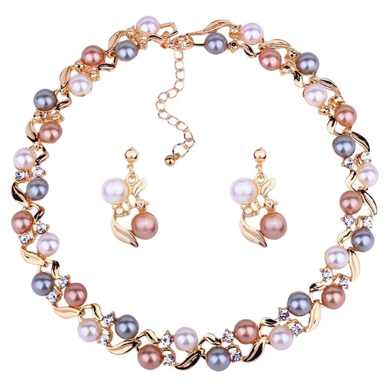 Pearl Wedding Jewelry Set...