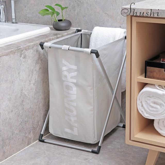 SHUSHI quadro cesto de roupa dobrável Grosso oxford Lavanderia dificulta lavanderia saco de roupa suja Do Banheiro à prova d' água de alta capacidade